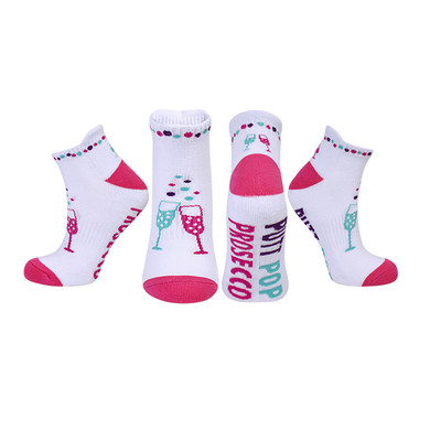 Pair Of Putt Pop Prosecco Ladies Golf Socks