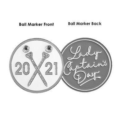 Lady Captains Day 2021 Golf Ball Marker- Silver