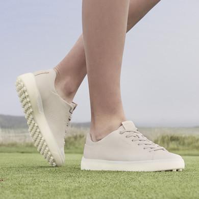Ecco Ladies Golf Tray Golf Shoes- Limestone