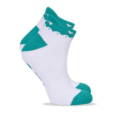 2 Pair Pack Of Aqua Ladies Golf Socks