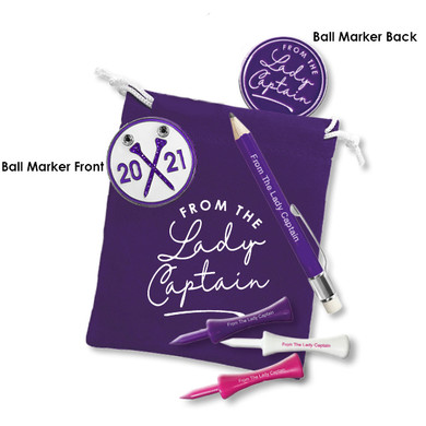 Lady Captain's Day 2021 Golf Ball Marker Set- Purple