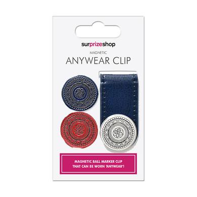 Navy  Ball Golf Marker Anywear Set