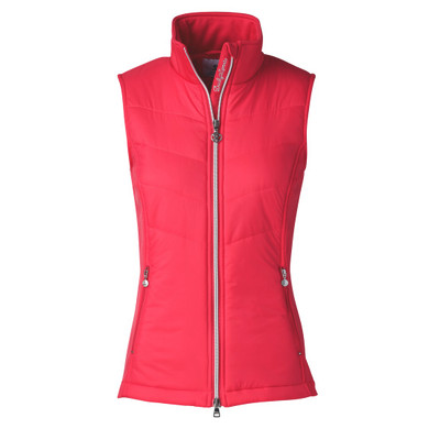 Daily Sports Draw Vest Sleeveless Sangaria Red - Front