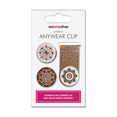 Rose Gold Glitter Ball Marker Anywear Set
