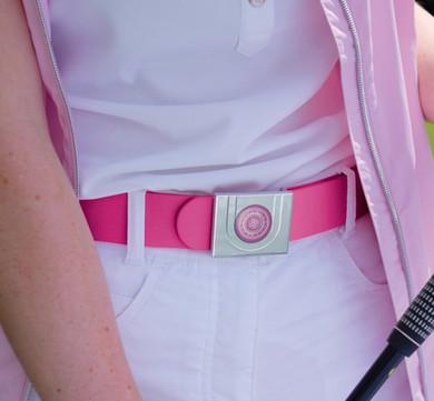 Pink Ball Marker Ladies Golf Belt