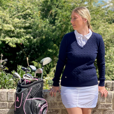 Daily Sports Madelene Jumper Navy - Front Lifestyle