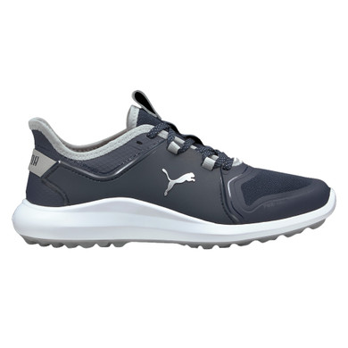 Puma Ladies Ignite Fasten8 Spikeless Waterproof Golf Shoes- Navy and Silver