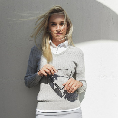 Daily Sports Madelene Jumper Grey - Front Lifestyle