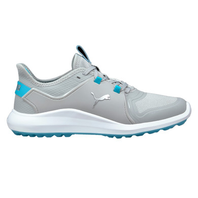 Puma Ladies Ignite Fasten8 Spikeless Waterproof Golf Shoes- Grey and Scuba Blue