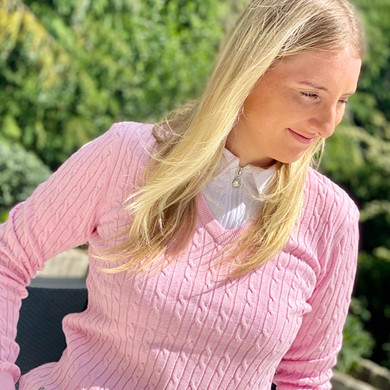 Daily Sports Madelene Jumper Pink - Front Lifestyle