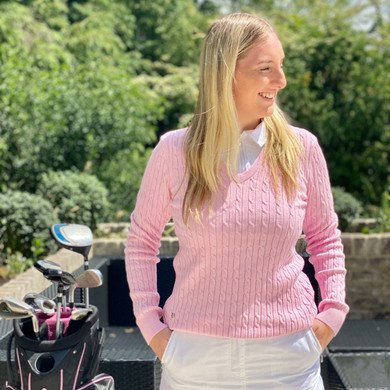 Daily Sports Madelene Jumper Pink - Front Lifestyle 3