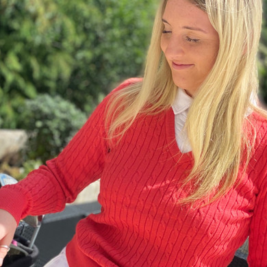 Daily Sports Madelene Jumper Red - Front Lifestyle 2