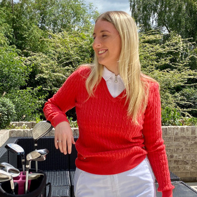 Daily Sports Madelene Jumper Red - Front Lifestyle