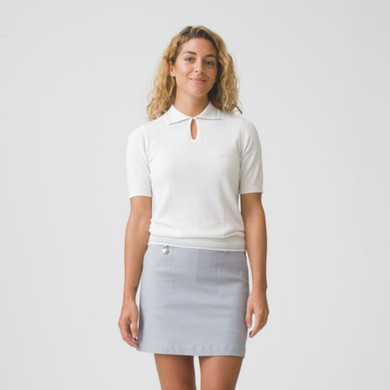 Daily Sports Elin 1/2 Sleeve Jumper White - Front Lifestyle