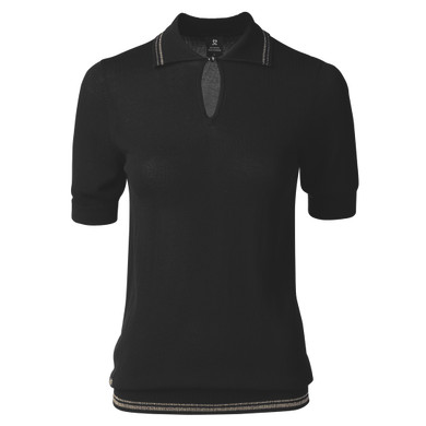 Daily Sports Elin 1/2 Sleeve Jumper Black - Front
