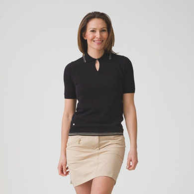 Daily Sports Elin 1/2 Sleeve Jumper Black - Front Lifestyle
