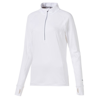 Puma Ladies Rotation Long Sleeve Quarter Zip- White