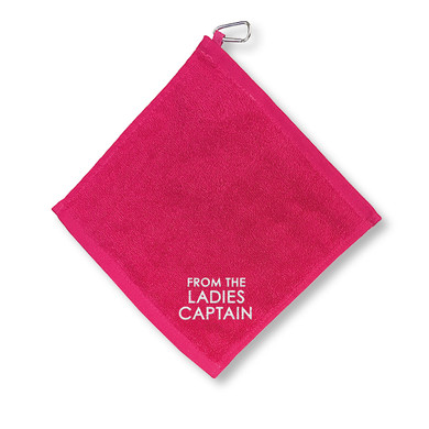 From The Ladies Captain  Towel With Clip - Pink