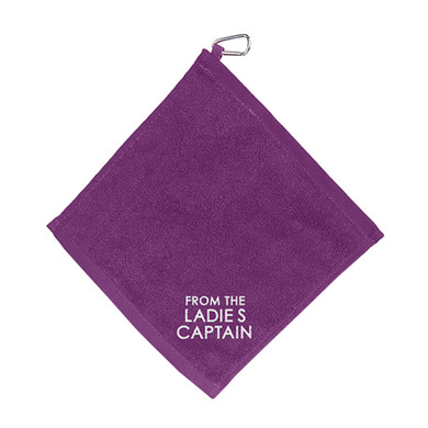 From The Ladies Captain  Towel With Clip - Purple