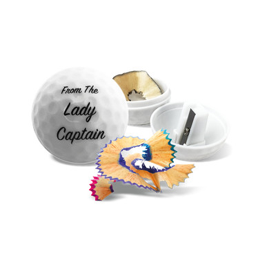 From the Lady Captain Golf Pencil Sharpener - White