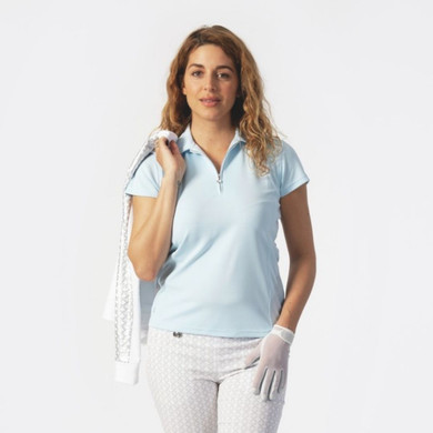 Daily Sports Macy Polo Shirt Breeze Blue - Front Lifestyle