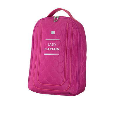 Lady Captain Embroidered Shoe Bag-Pink