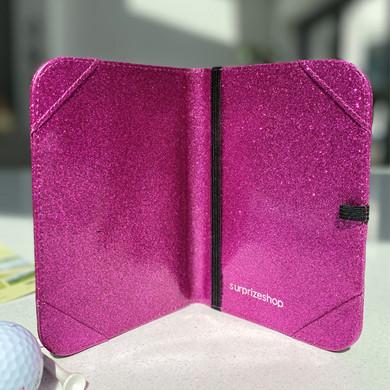 Pink Glitter Scorecard Holder