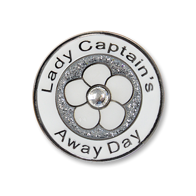 Lady Captain's Away Day Swarovski Crystal Ball Marker- Silver