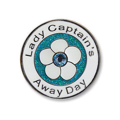 Lady Captain's Away Day Swarovski Crystal Ball Marker - Aqua