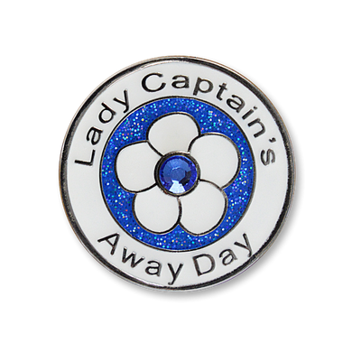 Lady Captain's Away Day Swarovski Crystal Ball Marker- Blue