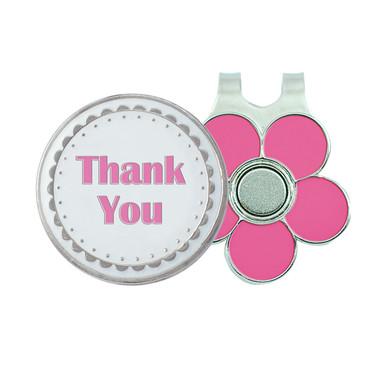Thank You Golf Ball Marker and Visor Clip