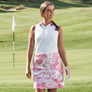 Daily Sports Milia Sleeveless Polo Shirt - Fruit Punch