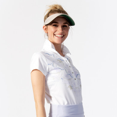 Daily Sports Viola Cap Sleeve Polo- White