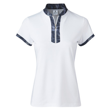 Daily Sports Raina Cap Sleeve Polo- White