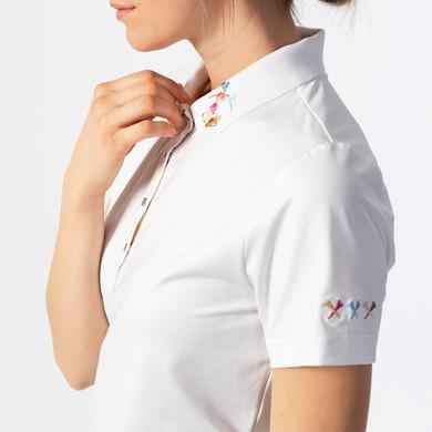 Daily Sports Selma Short Sleeve Polo- White