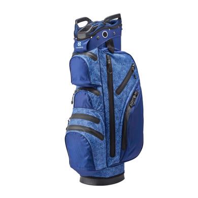 Ladies Waterproof Golf Cart Bag- Navy Snake