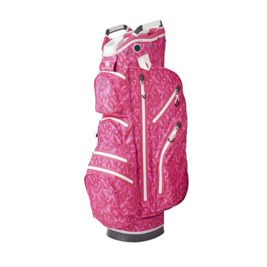 Ladies Waterproof Golf Cart Bag- Pink Feather