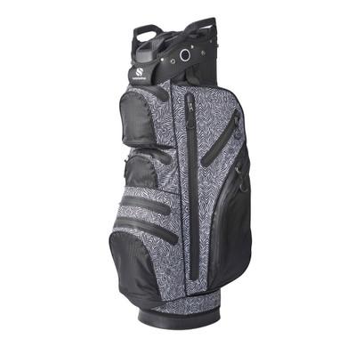 Ladies Waterproof Golf Cart Bag- Zebra
