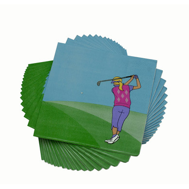 Lady Golfer Napkins Pack of 20