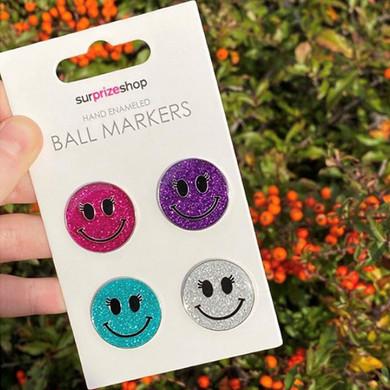 Ladies Smiley Golf Ball Marker Set
