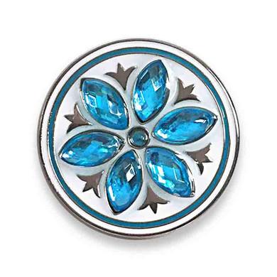 Aqua Crystal Flower Ball Marker