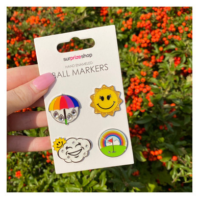 Weather Forecast Golf Ball Markers Set