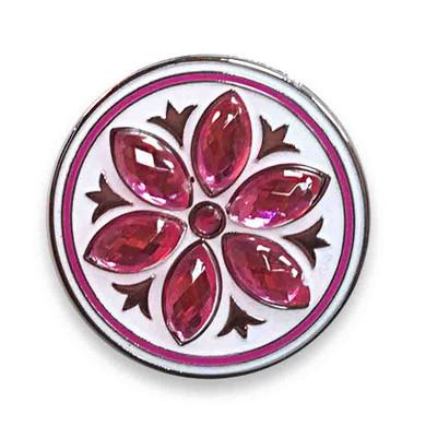 Pink Crystal Flower Golf Ball Marker