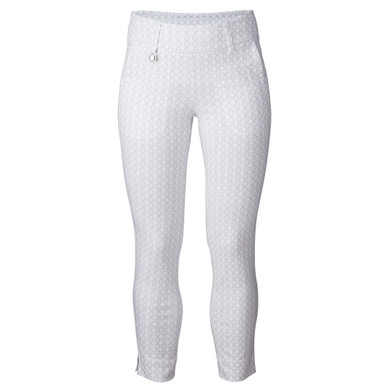 Daily Sports Caterina Pull On 7/8 Magic High Water Trouser - White and pearl