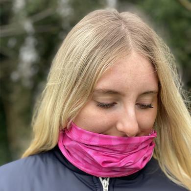 Lightweight Women's Golf Snood - Pink Feather Design