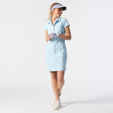 Daily Sports Lyric Cap Sleeve Dress- Blue Breeze