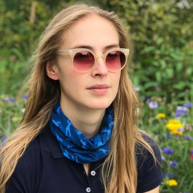 Lightweight Women's Golf Snood Lady Golfer Design - Blue