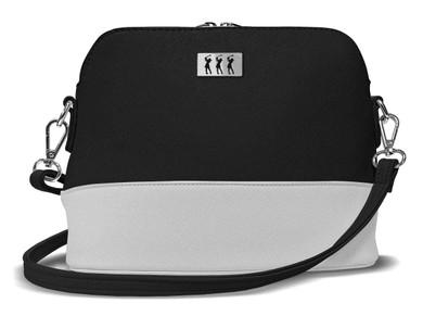 Lady Golfer Strap Golf Handbag- Black/White