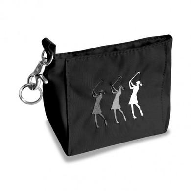 Lady Golfer Clip Golf Handbag - Black