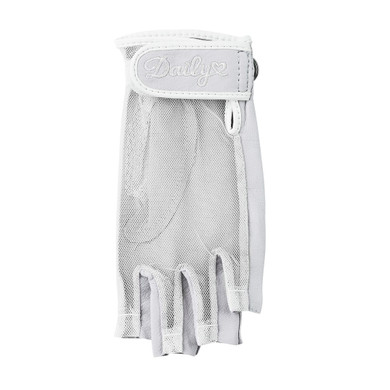 Daily Sports Left Hand Half Finger Sun Glove - Pearl